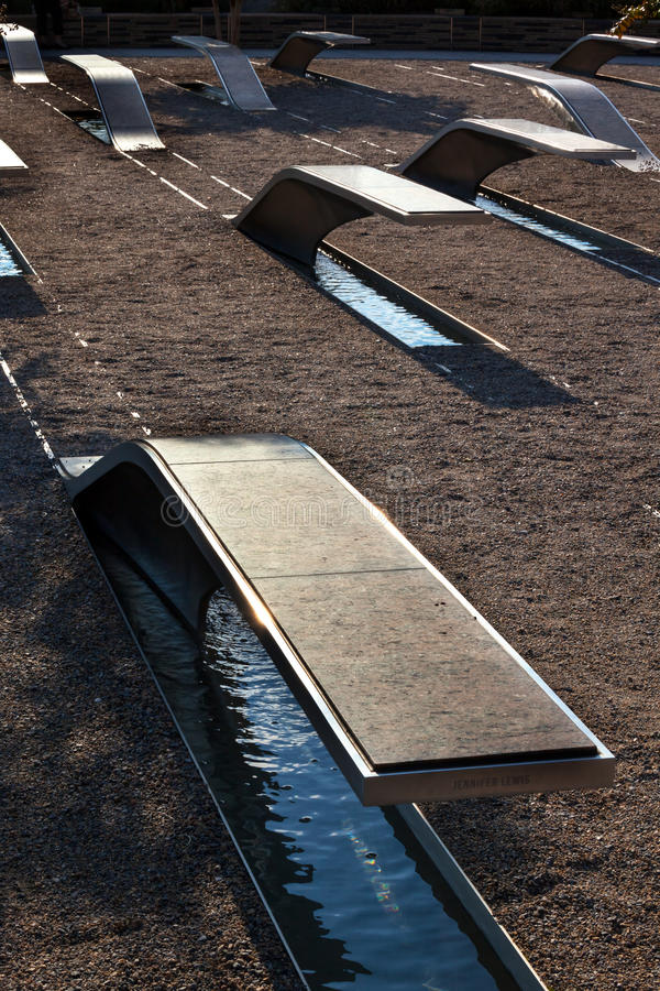 911 de herdenkingsAanval Virginia Washington van het Pentagoon van Slachtoffers stock afbeeldingen