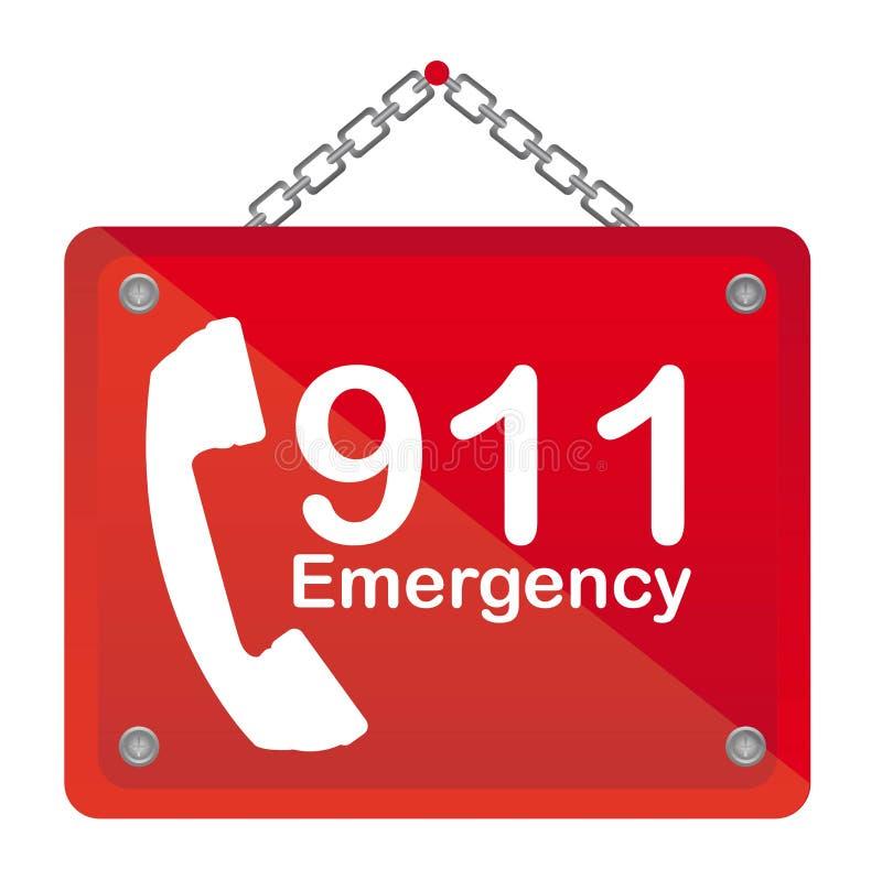 911 emergency royalty free illustration