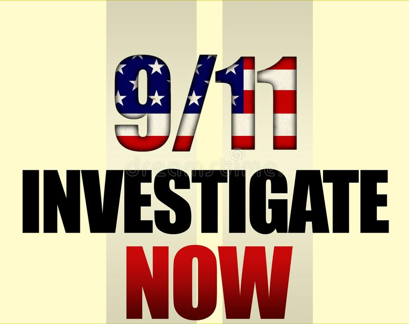 911 investiga ilustração do vetor