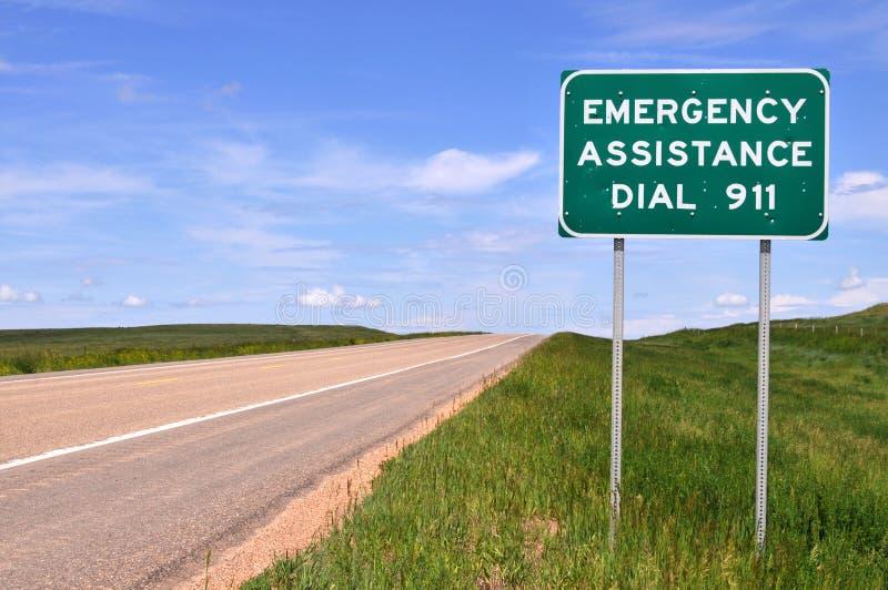 911 numerowy znak zdjęcia stock