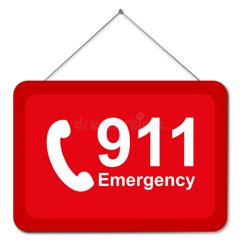 Free 911 Sign Stock Photography - 82912422
