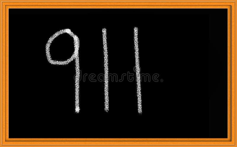 911 sulla lavagna illustrazione vettoriale