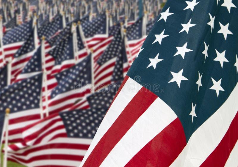 911 Tagesstaat-Denkmal-Markierungsfahnen stockbild
