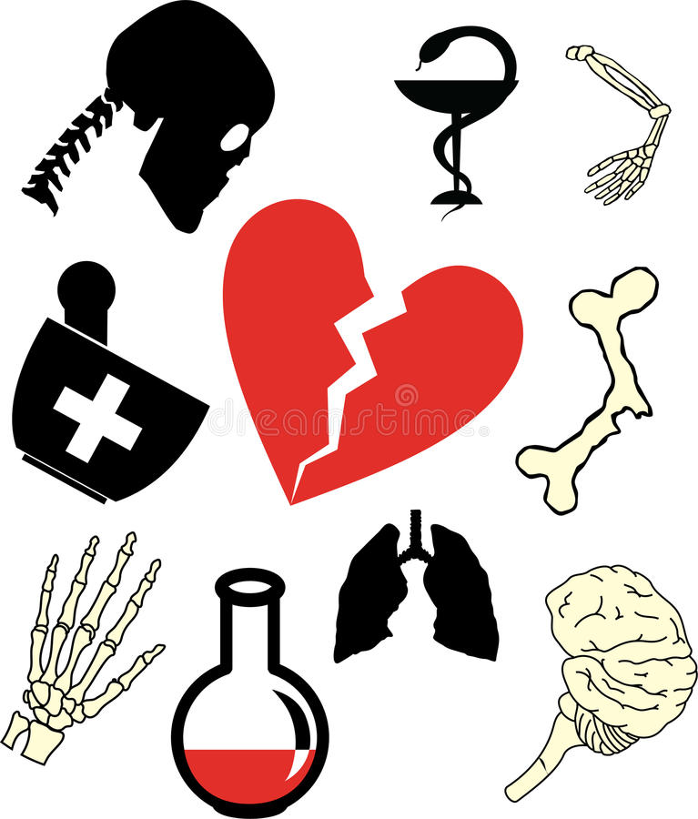 92c ikon medycyny set ilustracja wektor