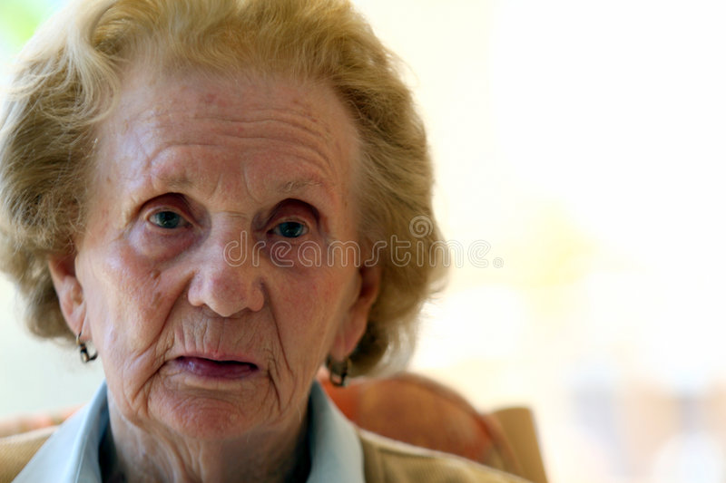 93 years old! stock photo