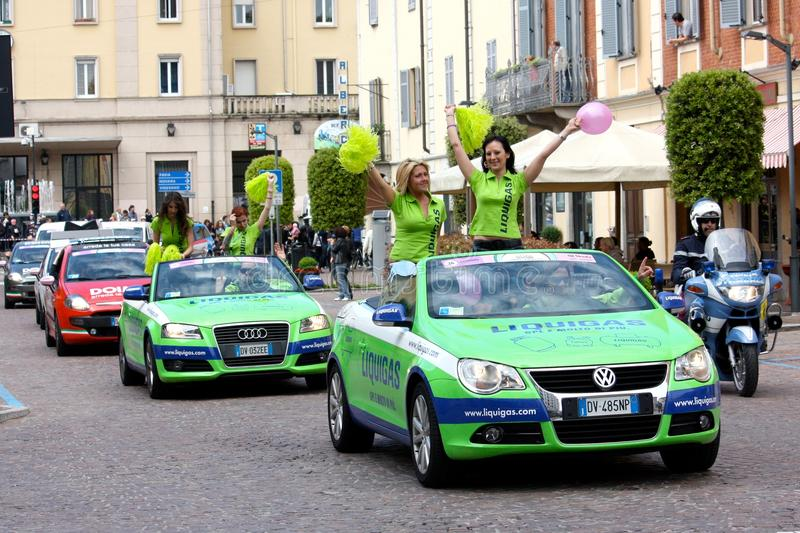 93rd Giro d'Italia (Tour of Italy) - Cycling. Event: 93rd Giro d'Italia (Tour of Italy) Date and place: Novara – Novi Ligure stage, Mortara, 13th May royalty free stock images