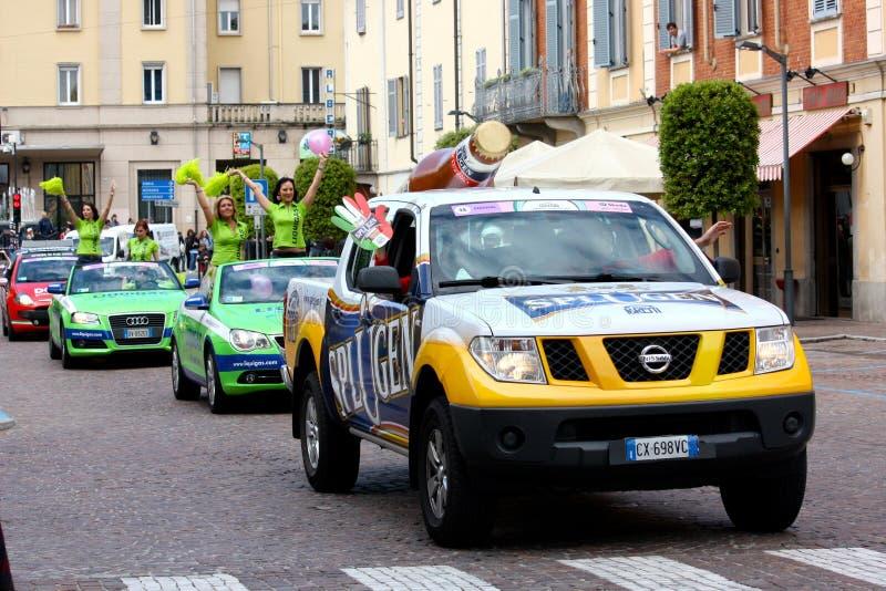 93rd Giro d'Italia (Tour of Italy) - Cycling. Event: 93rd Giro d'Italia (Tour of Italy) Date and place: Novara – Novi Ligure stage, Mortara, 13th May stock image