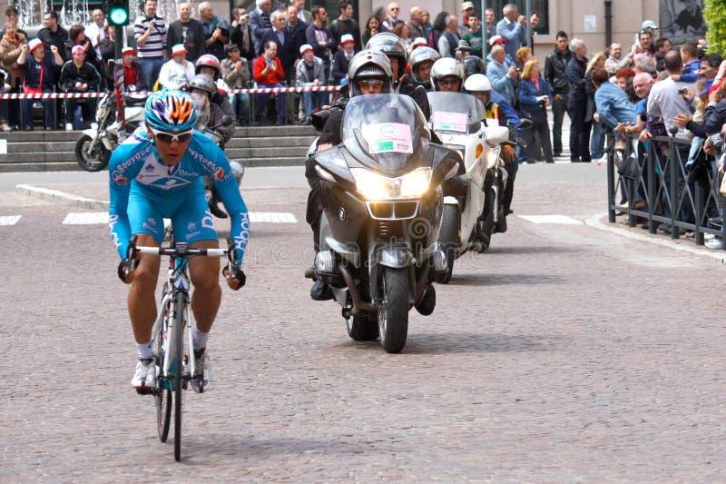 93rd Giro d'Italia (Tour of Italy) - Cycling. Event: 93rd Giro d'Italia (Tour of Italy) Date and place: Novara – Novi Ligure stage, Mortara, 13th May royalty free stock photo