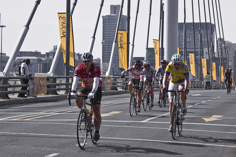 94.7 Cycle Challenge Riders On Mandela Bridge