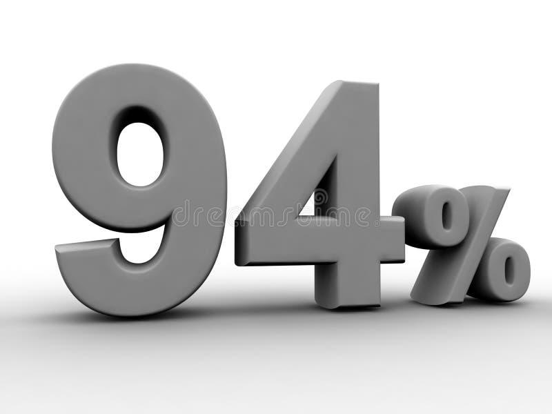 94 pour cent illustration stock illustration du paiement. Black Bedroom Furniture Sets. Home Design Ideas