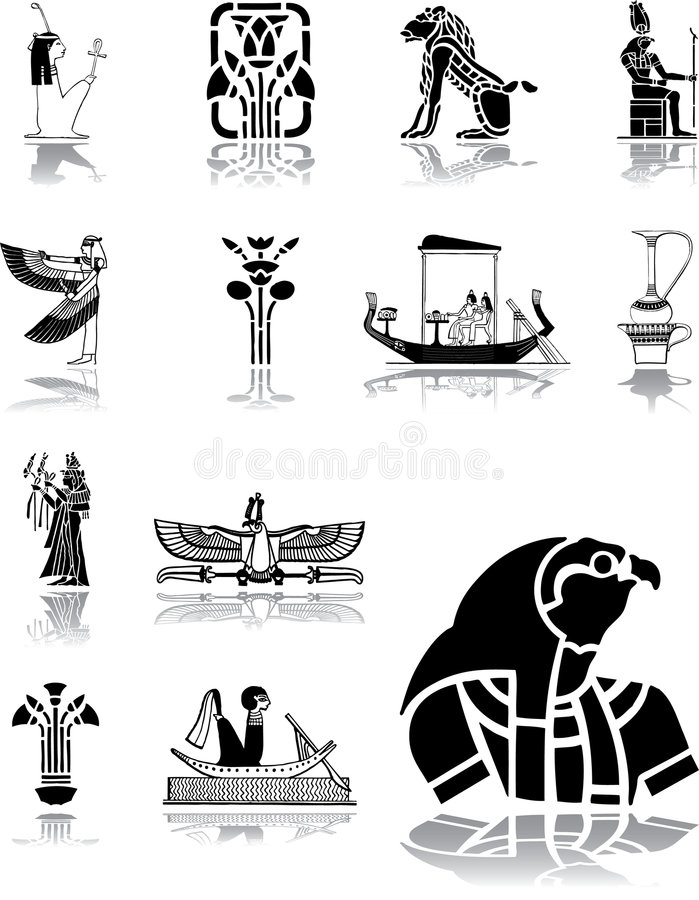 Download 96 Graphismes De L'Egypte Ont Placé Illustration de Vecteur - Illustration du croix, conception: 8670010