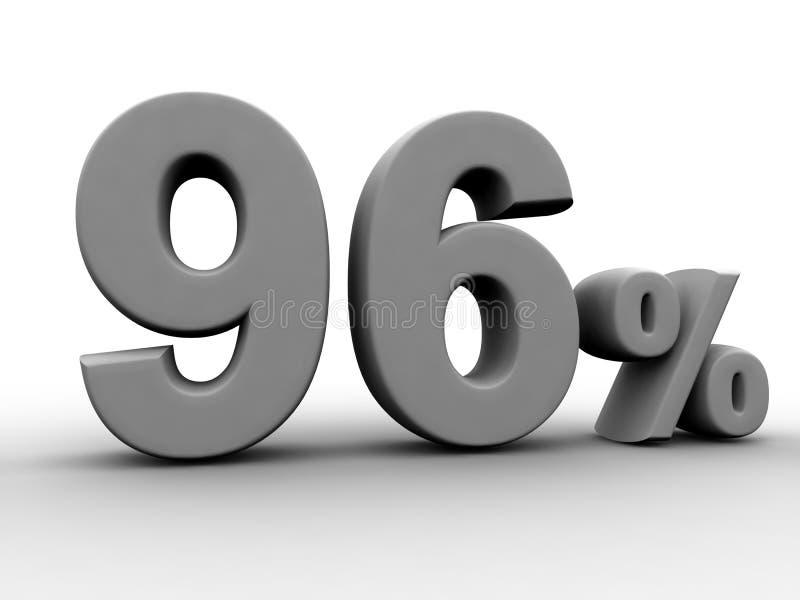 96 per cento illustrazione di stock