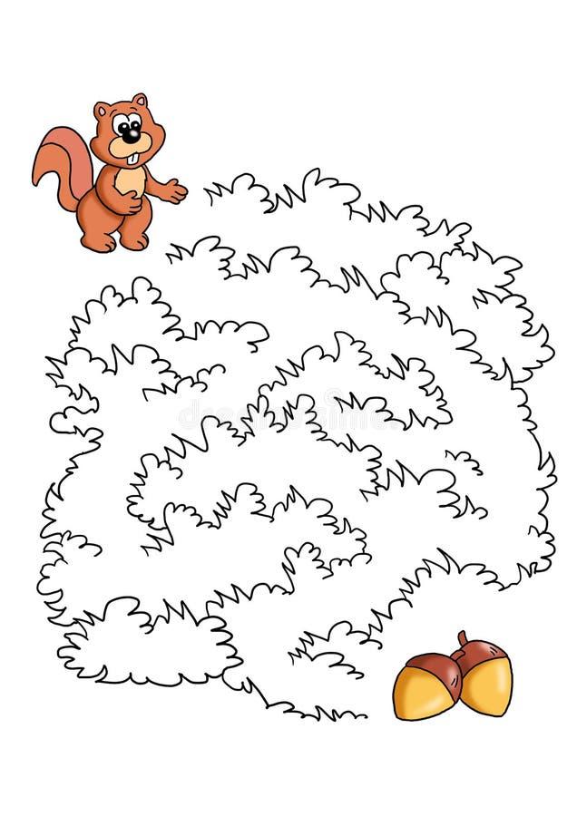 98 gry wiewiórka royalty ilustracja