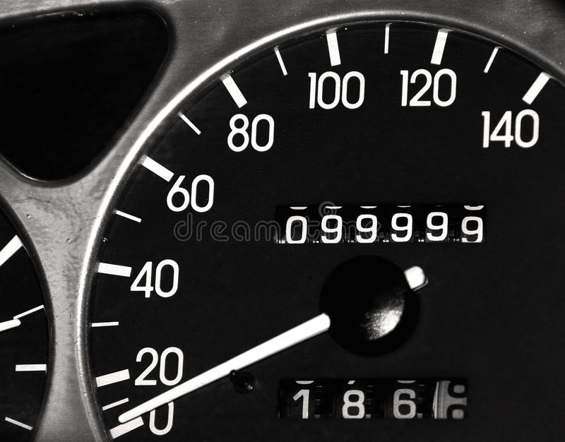 99.999,9 miles royalty free stock images