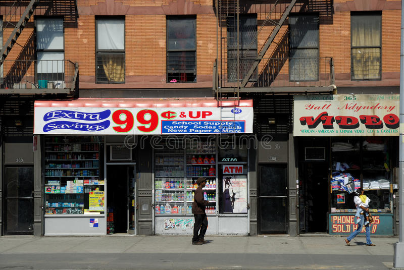 99 cent shop, New York stock images