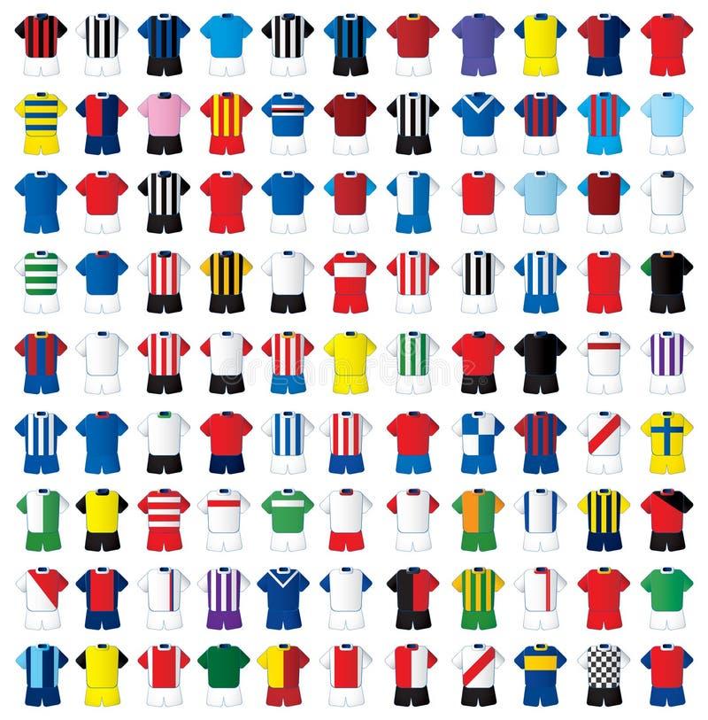 99 futbolowych koszula ilustracja wektor