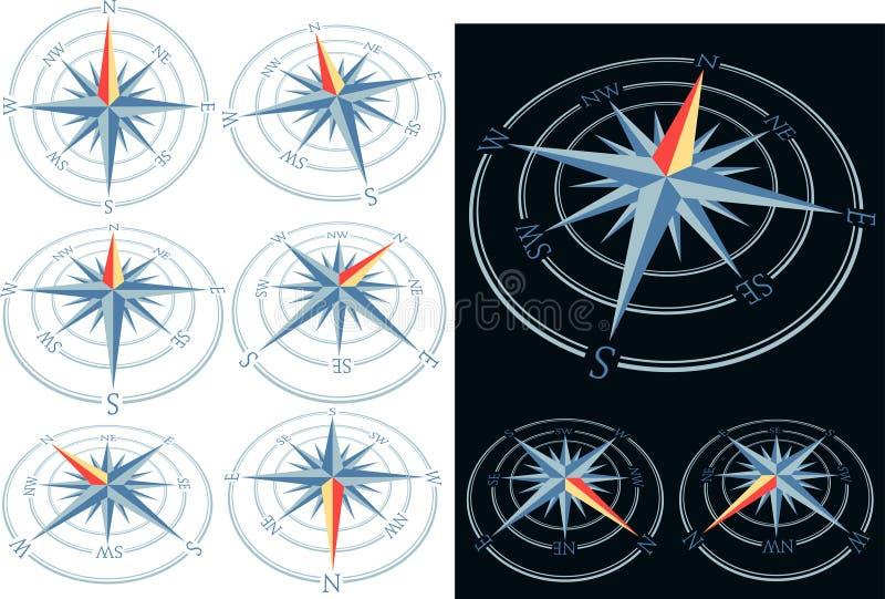 9bluecompass illustration stock