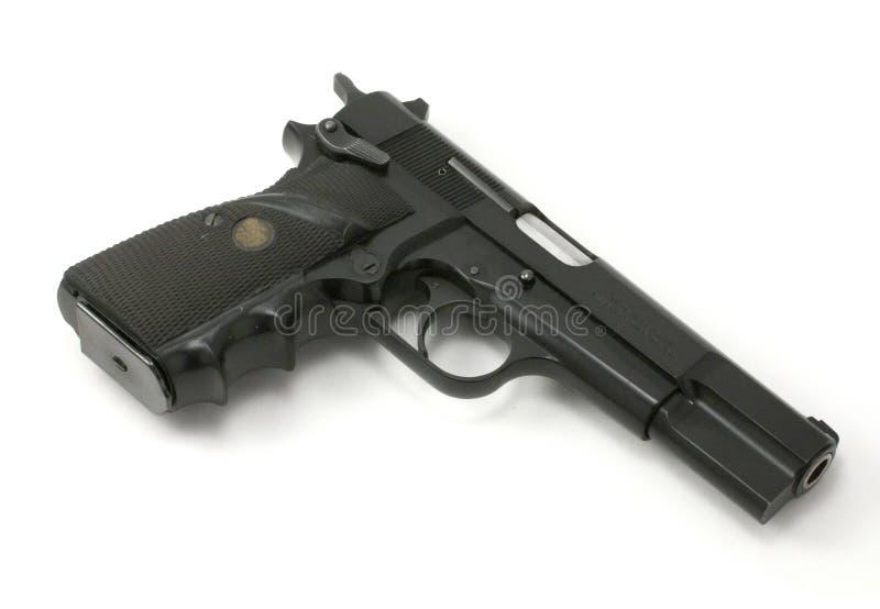 9mm Halfautomatisch Pistool stock foto's