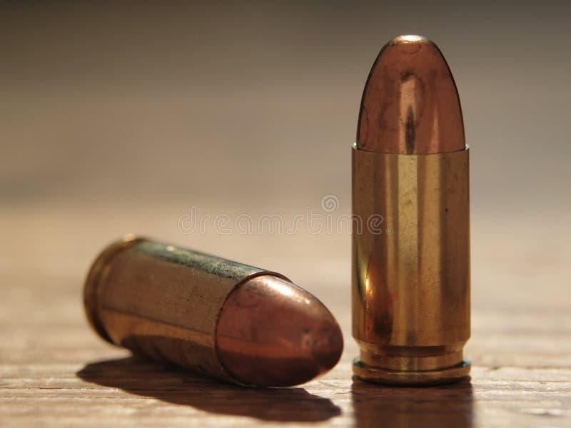 9mm Kogels stock afbeelding
