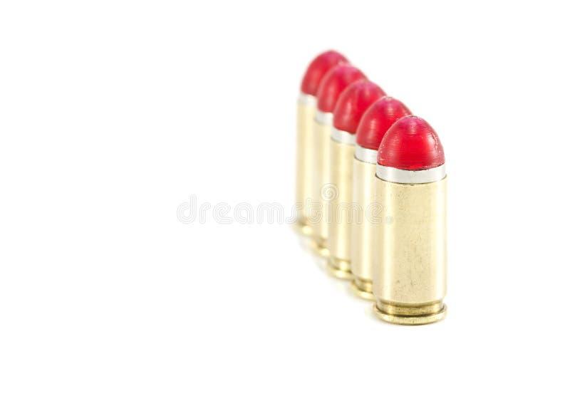 9mm Schlagumläufe/-gewehrkugeln richteten aus lizenzfreies stockbild