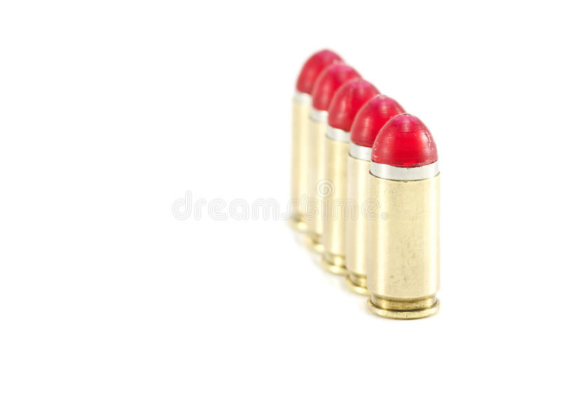 Download 9mm Shock Rounds / Bullets Lined Up Stock Photo - Image: 11150466