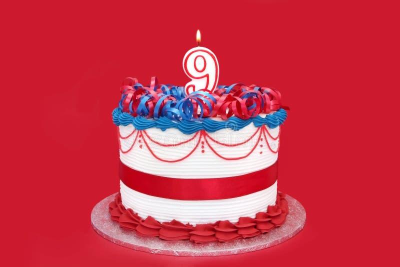 9th cake royaltyfria bilder