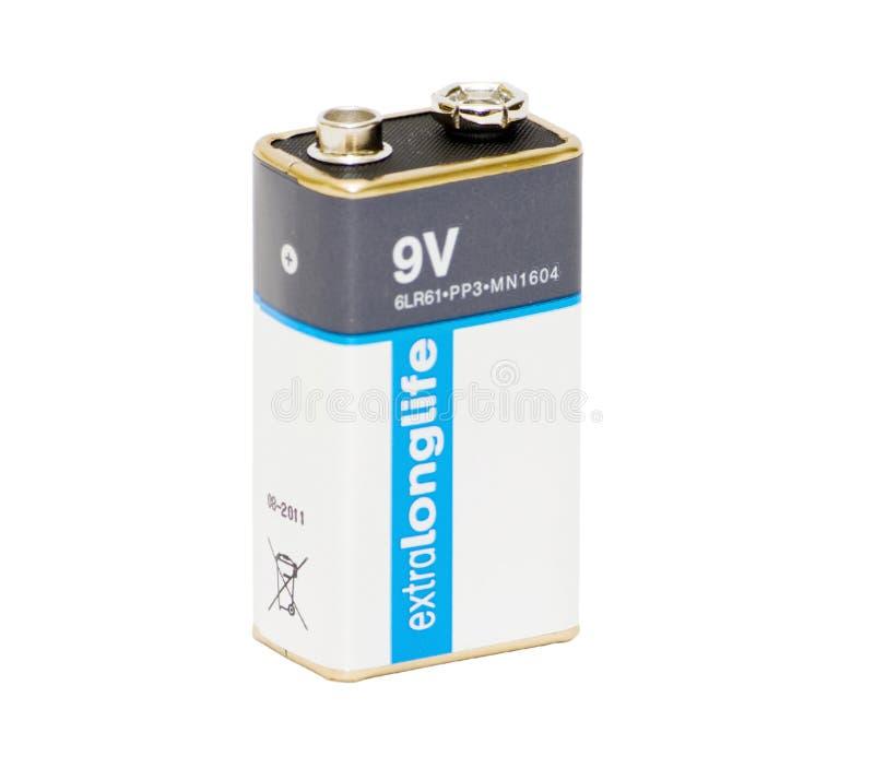 9V batterij stock afbeelding