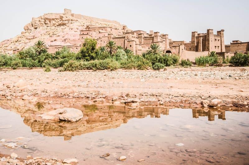 Aït Benhaddou, villaggio di Morrocan immagine stock libera da diritti