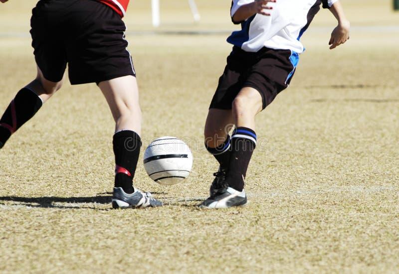 Ação 9 do futebol foto de stock
