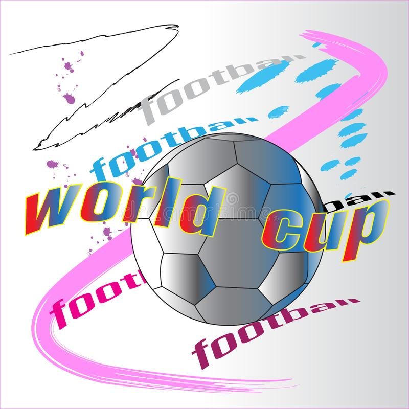 Ação da escova da ação do começo do futebol ilustração do vetor