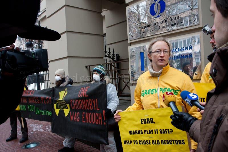 Ação de activistas de Greenpeace fotos de stock