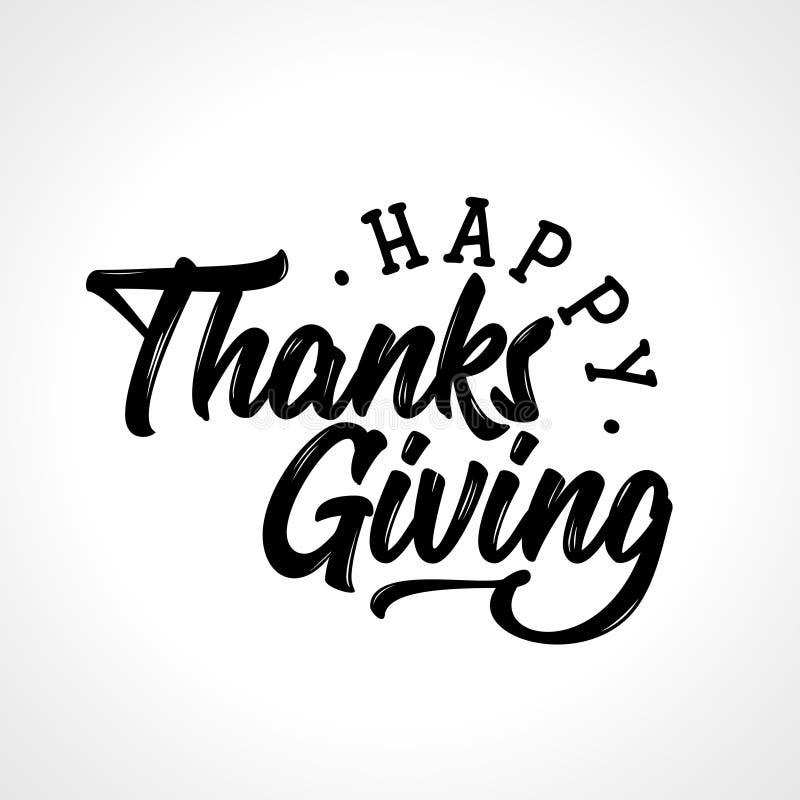 Ação de graças feliz - citações do feriado do outono ilustração royalty free