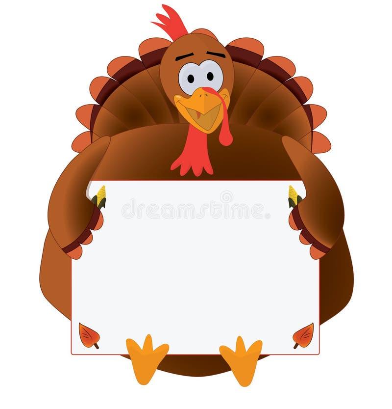 Ação de graças Turquia com copyspace ilustração do vetor