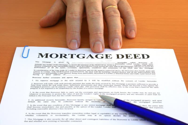 Ação de hipoteca fotografia de stock royalty free