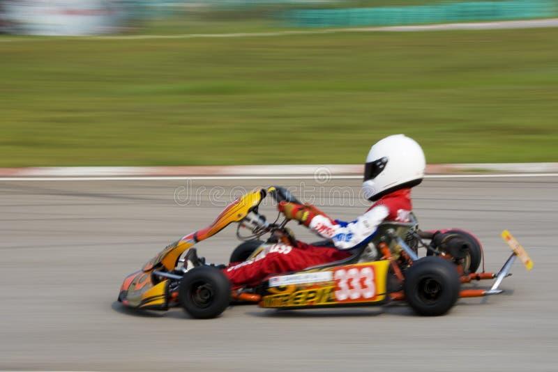 Ação de Karting (borrada) imagem de stock royalty free