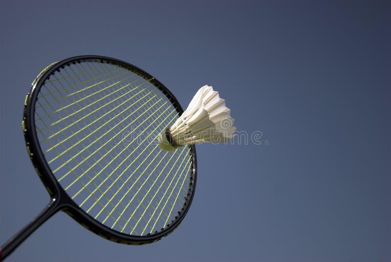Ação do Badminton foto de stock royalty free