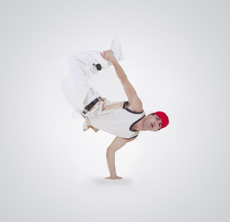 Ação do breakdance da dança do adolescente imagens de stock royalty free