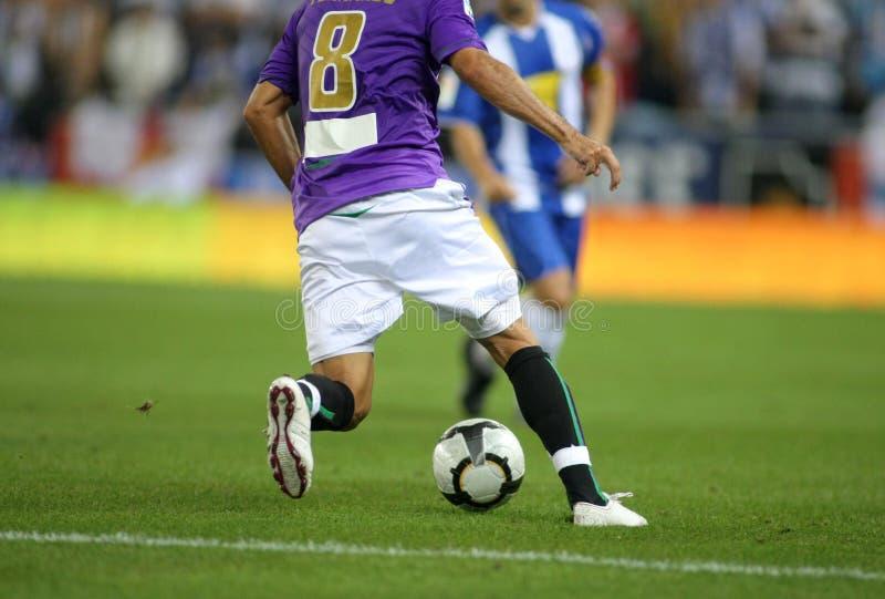Ação do futebol imagens de stock royalty free