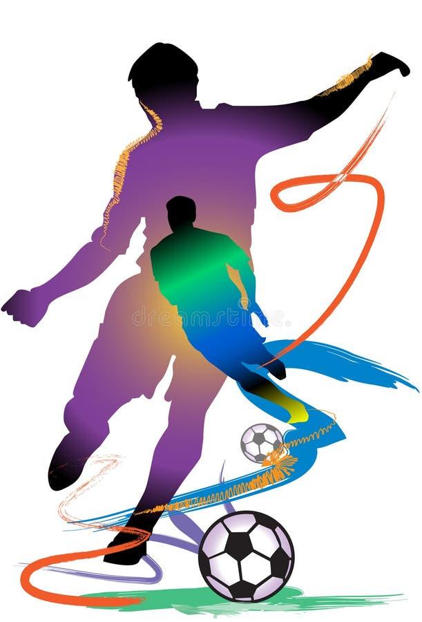 Ação do futebol ilustração do vetor
