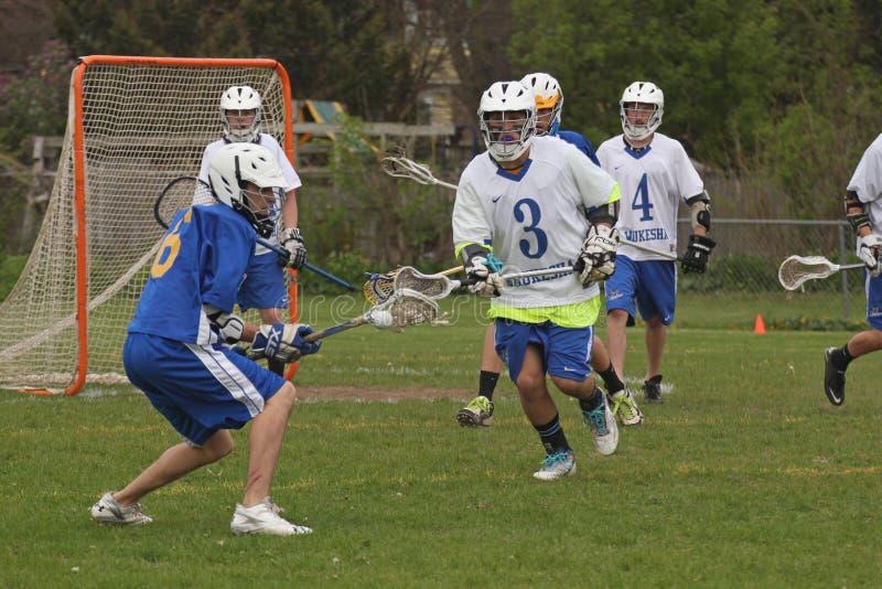 Ação do Lacrosse foto de stock
