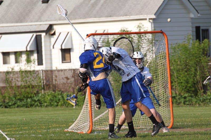Ação do Lacrosse fotografia de stock royalty free