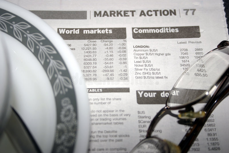 Ação do mercado de parte fotos de stock