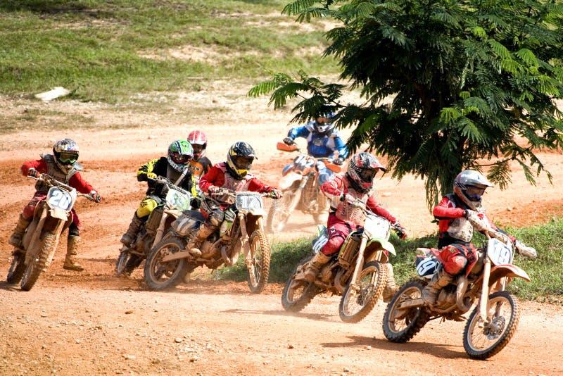 Ação do motocross fotos de stock