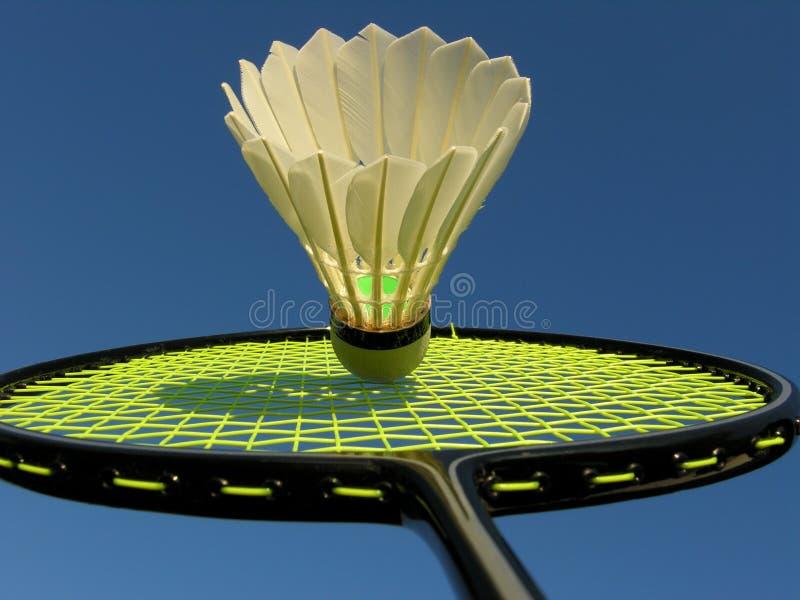 Ação no Badminton imagem de stock royalty free