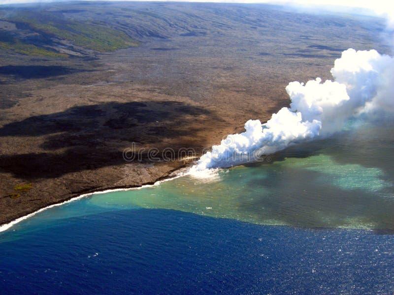 Ação vulcânica fotografia de stock royalty free