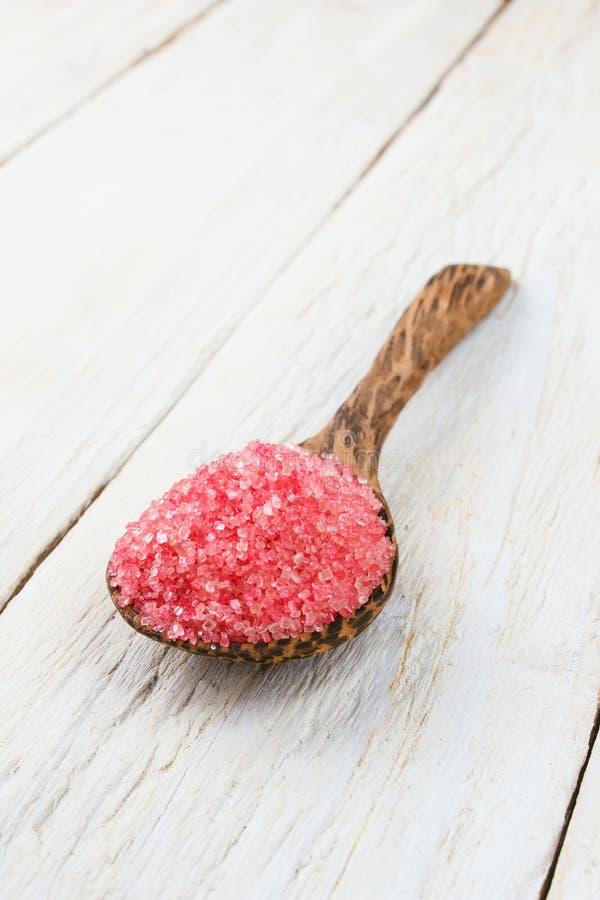 Açúcar cor-de-rosa imagens de stock