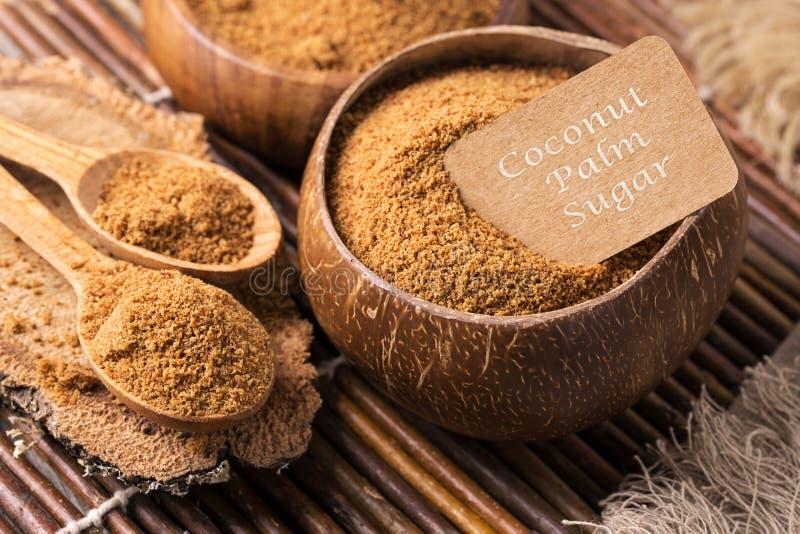 Açúcar da palma de coco fotos de stock royalty free