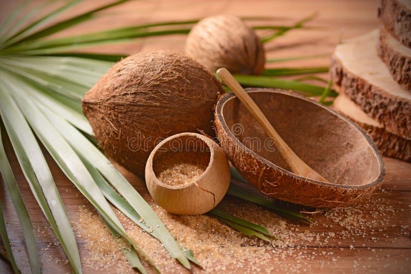 Açúcar da palma de coco foto de stock royalty free