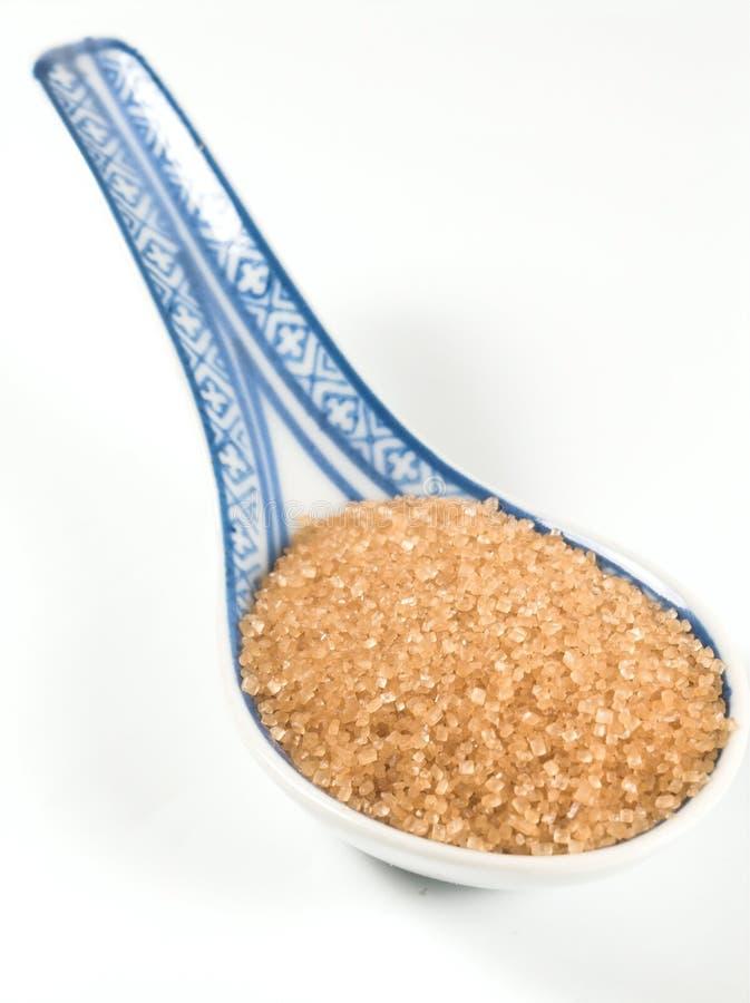 Açúcar de Brown fotografia de stock royalty free