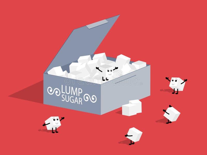 Açúcar de protuberância. ilustração do vetor